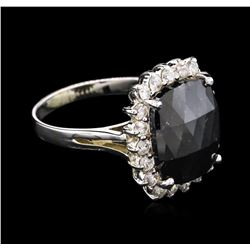 4.86 ctw Black Diamond Ring - 14KT White Gold