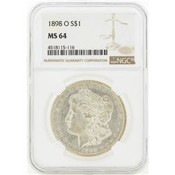 1898-O MS64 NGC Morgan Silver Dollar