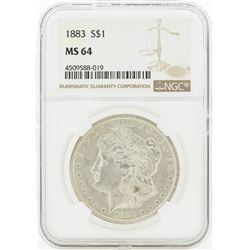 1883 MS64 NGC Morgan Silver Dollar