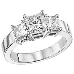 Diamond Ring - 18KT White Gold