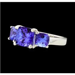 3.08 ctw Tanzanite Ring -  Platinum