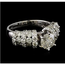 3.35 ctw Diamond Ring - 18KT White Gold