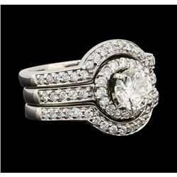 1.90 ctw Diamond Ring - 18KT White Gold