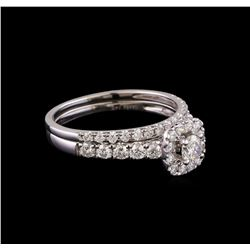 1.00 ctw Diamond Wedding Ring Set - 14KT White Gold