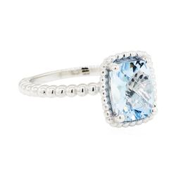 1.75 ctw Aquamarine Ring - 14KT White Gold