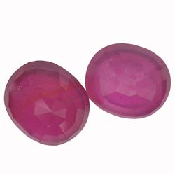 19.81 ctw Oval Mixed Ruby Parcel