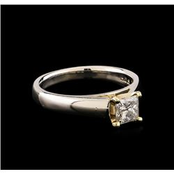 Platinum 0.70 ctw Diamond Ring
