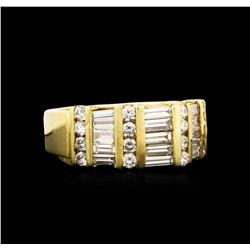 18KT Yellow Gold 1.39 ctw Diamond Ring