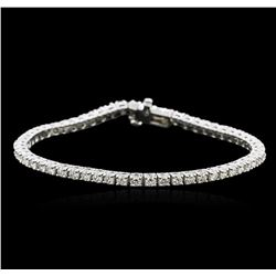 14KT White Gold 3.71 ctw Diamond Tennis Bracelet