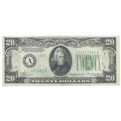 1934 $20 Federal Reserve Note - Boston
