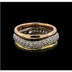 14KT Tri-Color Gold 0.49 ctw Diamond Ring