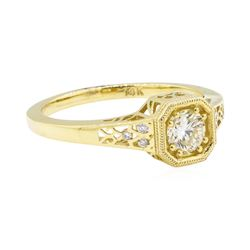 0.54 ctw Diamond Ring - 14KT Yellow Gold