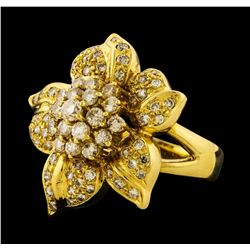 1.36 ctw Diamond Ring - 18KT Yellow Gold
