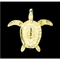 Turtle Pendant - 14KT Yellow Gold