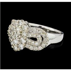 1.45 ctw Diamond Ring - 14KT White Gold