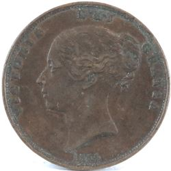 1854 Great Britain One Penny - Victoria.