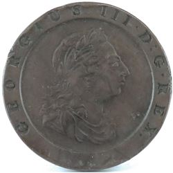 1797 Great Britain 2 Pence - George III Cartwheel.