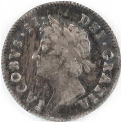 1687/6 England 3 Pence - James II.
