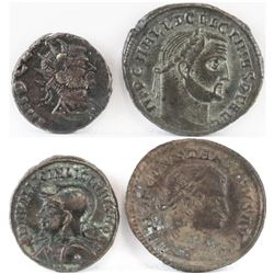 Lot of (4) Roman Empire Coins includes 268-270 Claudius Gothicus, 307-324 Licinius Sr, 317-326 Licin