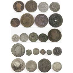 Lot of (23) early Foreign Coins - Ancients, Medieval, 1700's, 1800's  more!