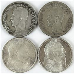 Lot of (15) Sweden 2 Kronor includes (2) 1931-G, (2) 1932-G, (2) 1938-G, 1939-G, 1946-TS, 1948-TS, (
