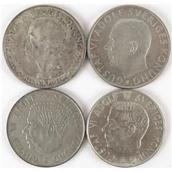 Lot of (18) Sweden Coins includes 1928-G Krona, 1935-G 5 Kronor, 1952-TS 5 Kronor, (3) 1954-TS 5