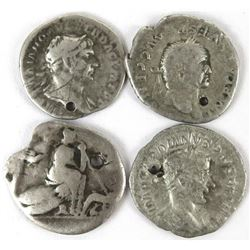 Ancients: (20) Coin ancient lot - mostly silver - some holed - some nearly 2000 years old!.