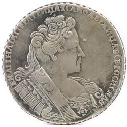 1732 Russia Rouble - Queen Anna.