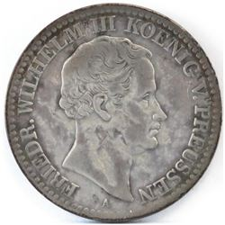 Lot of (2) German State - Prussia Thaler includes 1830-A  1861.