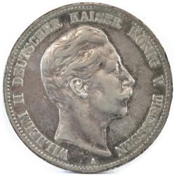 1904-A German States - Prussia 5 Mark.