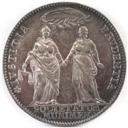 1770, Anno VIII - Issued to commemorate the creation of a tribunal for the Inland Territories to