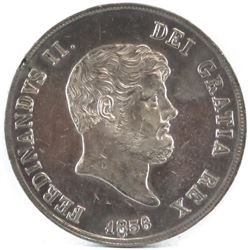 1856 Italian States - Naples 120 Grana. Re-punched date!