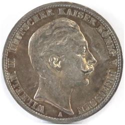 1911-A German States - Prussia 3 Mark.