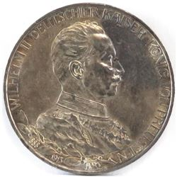 1913-A German States - Prussia 3 Mark.