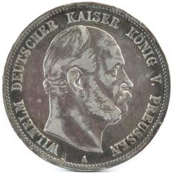 1876-A German States - Prussia 5 Mark.