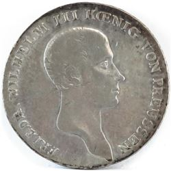 1815-A German States - Prussia Thaler.