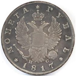1817-Russia Rouble.