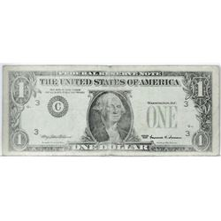 Error: 1999 $1 Federal Reserve Note - missing 3rd printing.