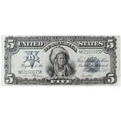 1899 $5 Silver Certificate Note - Chief Oncpapa. FR# 281.