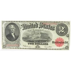 Consecutive: Lot of (2) 1917 $2 Legal Tender Notes FR# 60 - consecutive serial #'s D96868975A  D96
