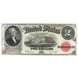Consecutive: Lot of (3) 1917 $2 Legal Tender Notes FR# 60 - consecutive serial #'s D96868977A, D968