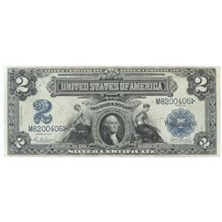 1899 $2 Silver Certificate Mechanics  Agriculture Note. FR# 255.