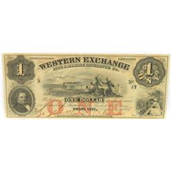 Obsolete Note: Lot of (3) Obsolete Notes includes 1857 $1, $2  $3 Nebraska Territory - Western Exc