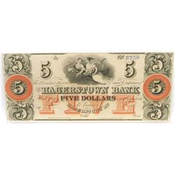 Obsolete Note: Lot of (2) Obsolete Notes includes $5  $10 Hagerstown Bank Maryland (Note Serial #'