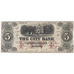 Obsolete Note: 1855 The City Bank of Augusta, Georgia - GA50.