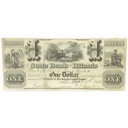 Obsolete Note: Lot of (3) Obsolete Notes includes 1840 $1, $2.50  $5 State Bank of Illinois Lockpo