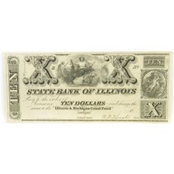 Obsolete Note: Lot of (3) Obsolete Notes includes 1840 $10, $20  $50 State Bank of Illinois Lockpo