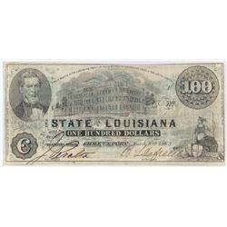 bsolete Note: 1863 $100 State of Louisiana Shreveport - CR11