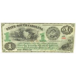 Obsolete Note: Lot of (4) Obsolete Notes includes 1870's $1, $2, $5  $50 State of South Carolina C