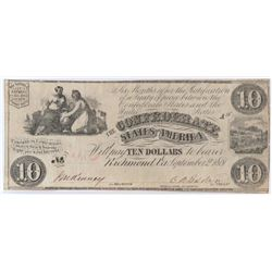 Confederate Currency: September 2, 1861 $10 Confederate States of America - T-28.